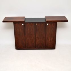 danish rosewood retro vintage bar cabinet sideboard by dyrlund