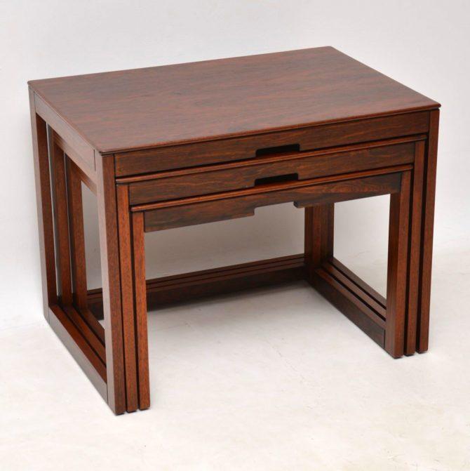 danish rosewood nest of tables staples