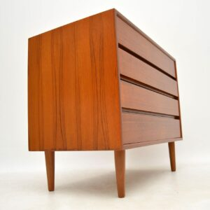 danish teak retro vintage chest of drawers