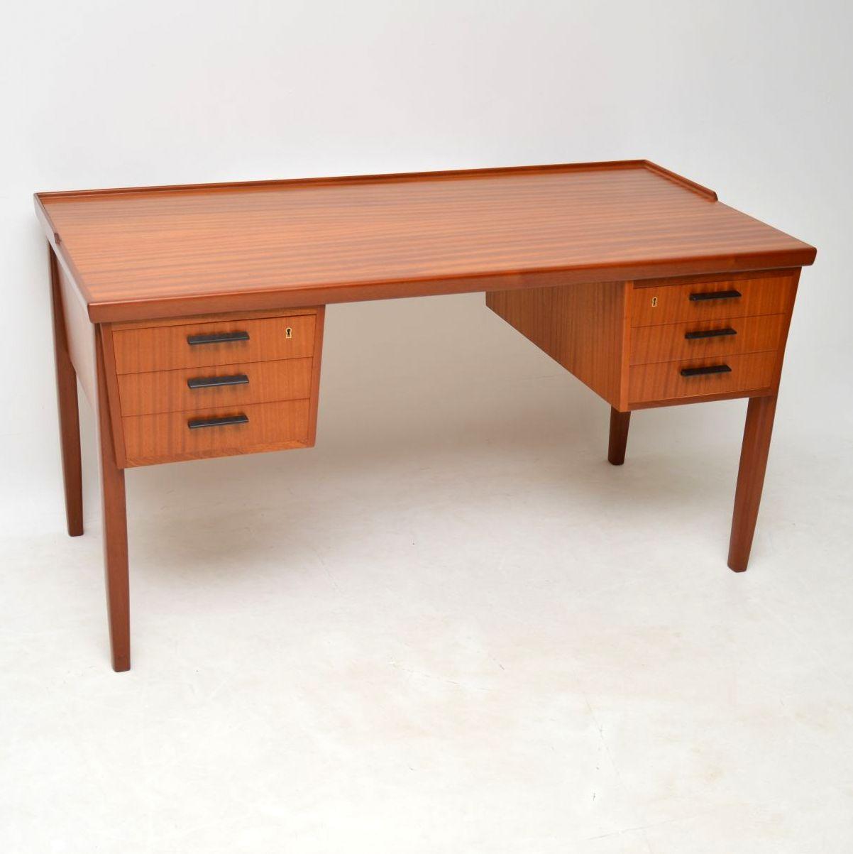 danish teak retro vintage desk