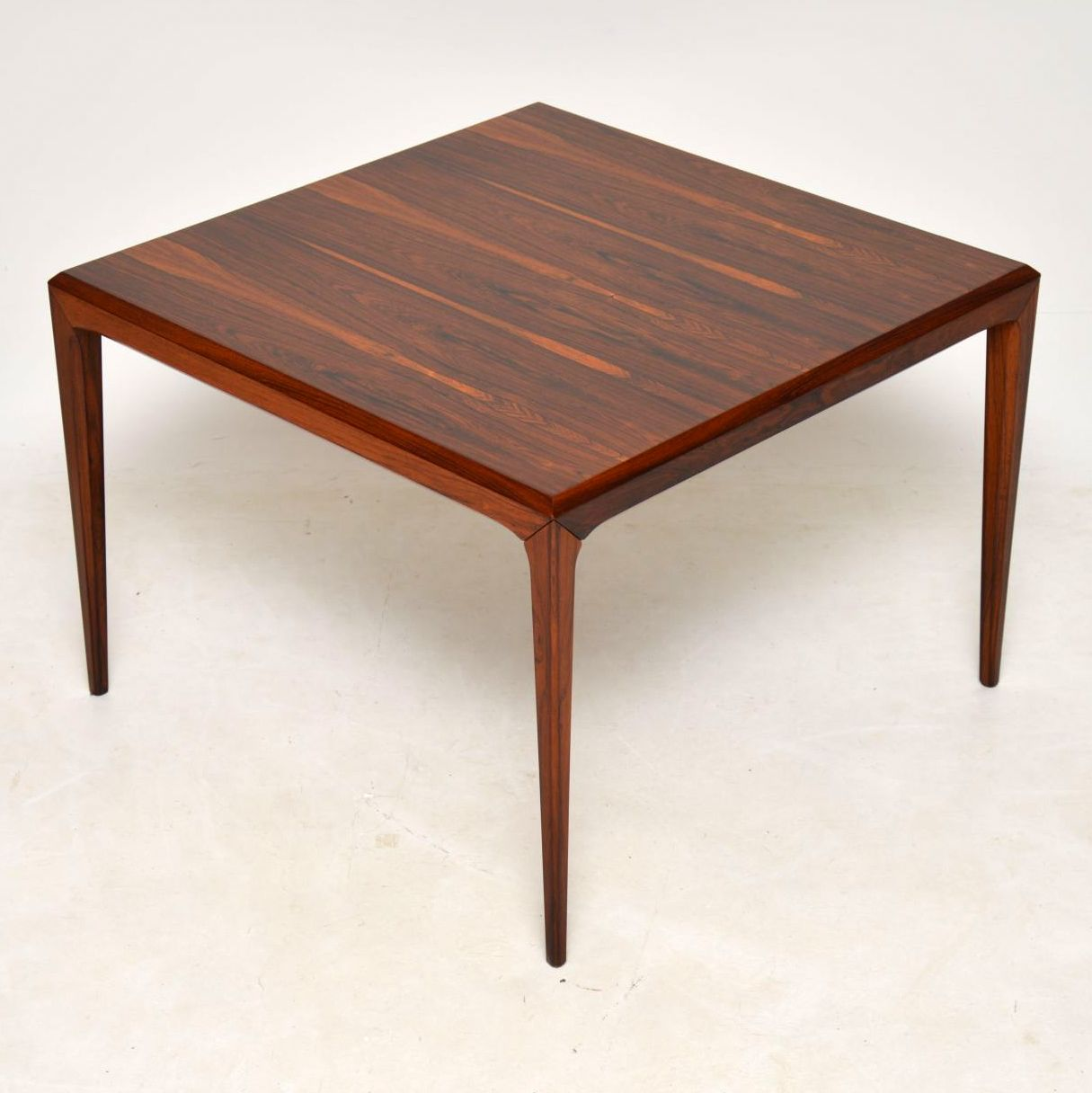 danish rosewood retro vintage coffee table johannes andersen