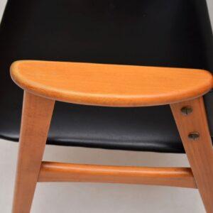 pair of danish retro vintage armchairs