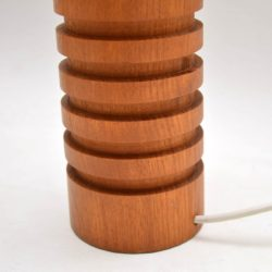 pair of retro vintage danish teak table lamps