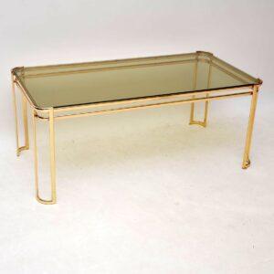 retro vintage italian french brass coffee table