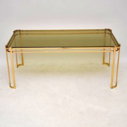 retro vintage italian french brass coffee table