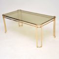 1970's Vintage Italian Brass Coffee Table