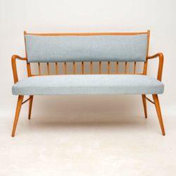 danish vintage retro sofa settee bench