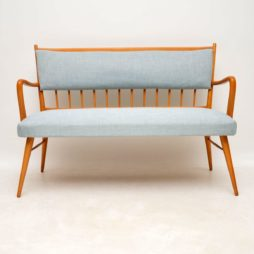 danish vintage retro sofa settee bench
