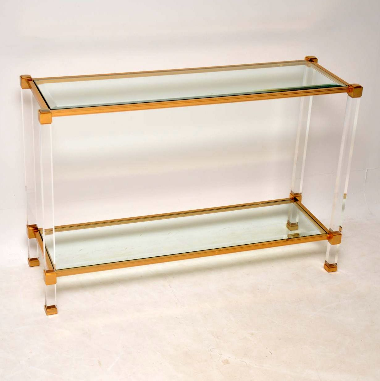 retro vintage glass perspex french console table