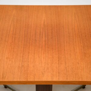 teak retro vintage rise and fall adjustable coffee dining table