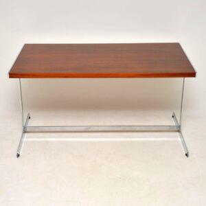 retro vintage rosewood chrome desk writing table merrow associates