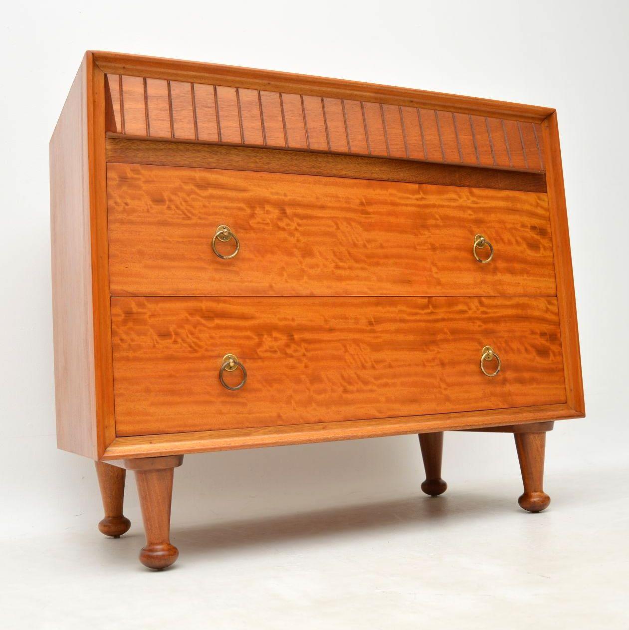 retro_vintage_satinwood_heals_chest_of_drawers_1