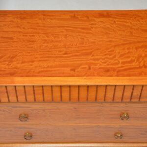 vintage retro satinwood chest of drawers heals of london