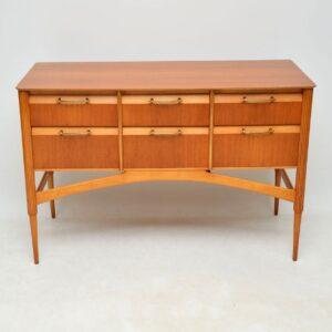 retro vintage satinwood danish sideboard chest