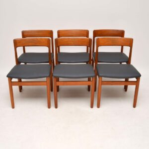 1960's Set of 6 Vintage Teak Dining Chairs by Younger