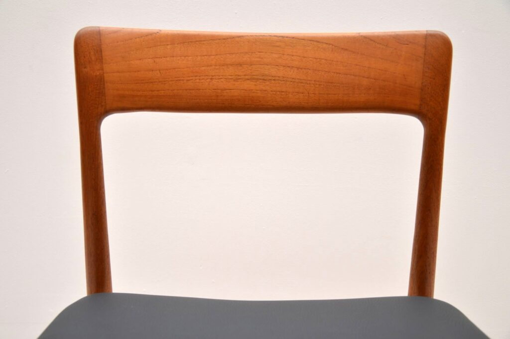 teak retro vintage set of dining chairs by moller younger