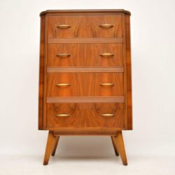 retro vintage walnut chest of drawers