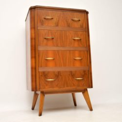 1950's Walnut Tallboy Chest of Drawers