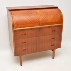1960's Swedish Teak Roll Top Bureau by Egon Ostergaard