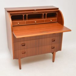 swedish teak roll top writing bureau egon ostergaard