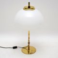 1960's Vintage Brass & Glass Rise & Fall Table Lamp
