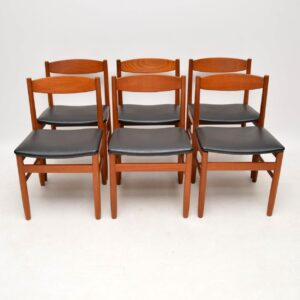teak retro vintage dining chairs robert heritage archie shine