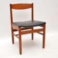 1960's Set of 6 Teak Vintage Dining Chairs by Robert Heritage for Archie Shine