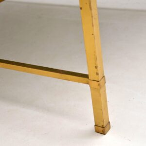 vintage retro antique marble brass coffee table