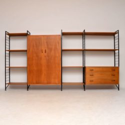 teak retro vintage ladderax wall unit wardrobe chest