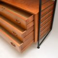 1960's Vintage Teak Ladderax Wall Unit / Wardrobe / Chest / Shelves