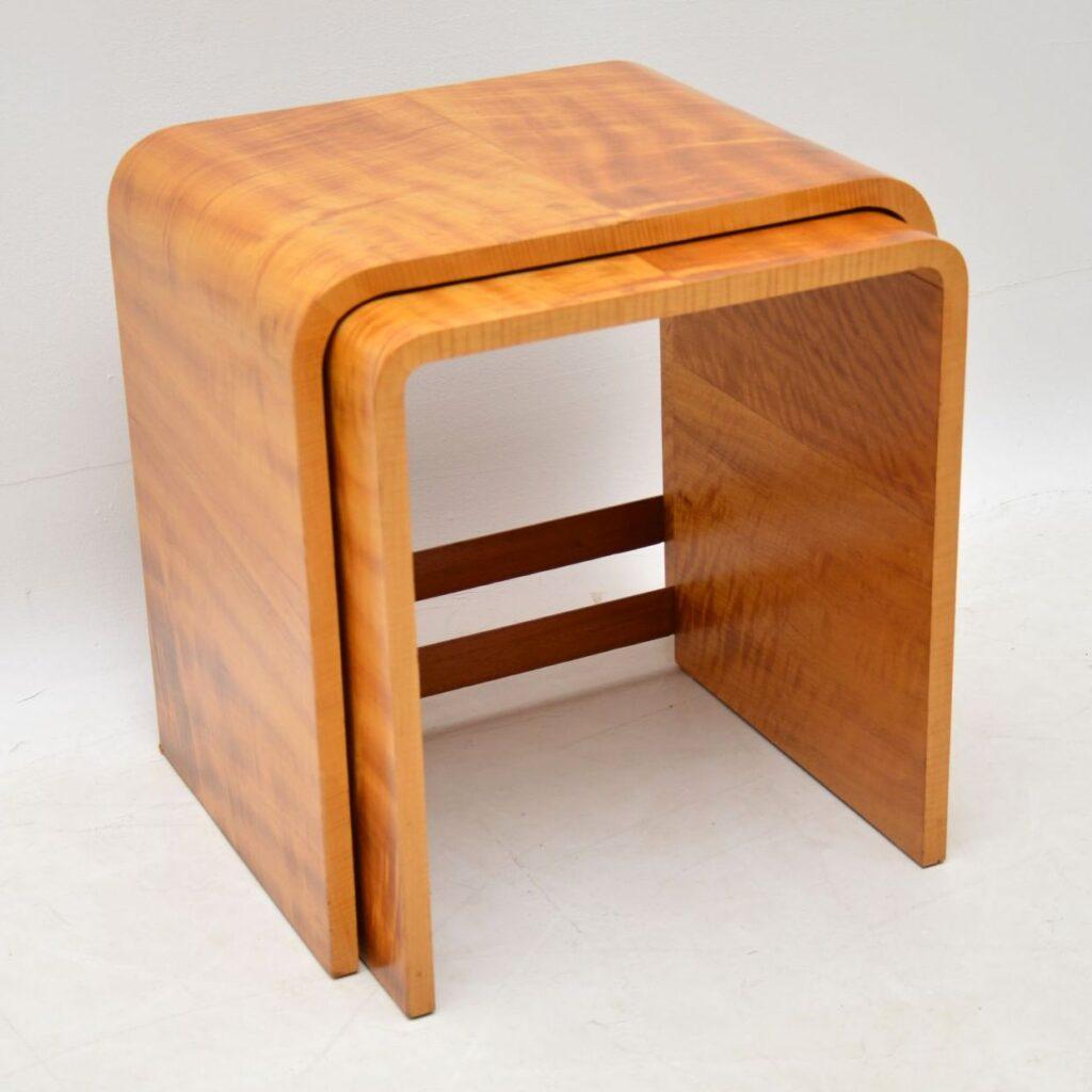 art deco vintage antique nest of tables
