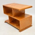 1920's Art Deco Satin Wood Bookcase / Side Table