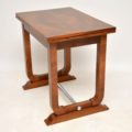 1920's Art Deco Vintage Walnut Card Table / Side Table
