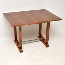 art deco walnut vintage antique card side console table