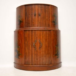 Art Deco Walnut & Chinoiserie Cocktail Cabinet