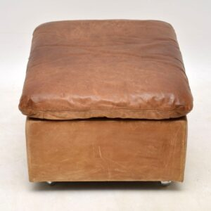 vintage retro leather footstool ottoman