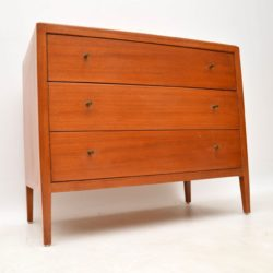 1960's Vintage Teak & Brass Chest of Drawers