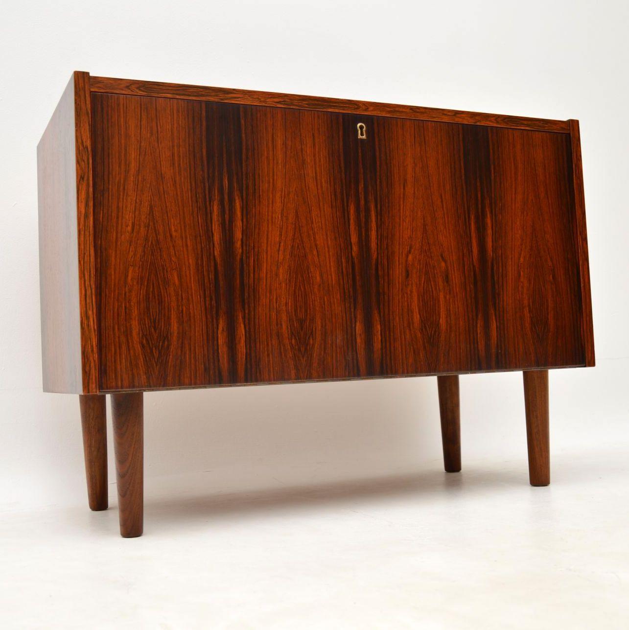 1960's Danish Vintage Rosewood Cabinet - 1960's Danish Vintage Rosewood Cabinet Retrospective Interiors