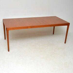 danish teak retro vintage dining table by bramin