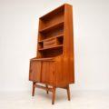 1960's Vintage Teak Bureau Bookcase Cabinet