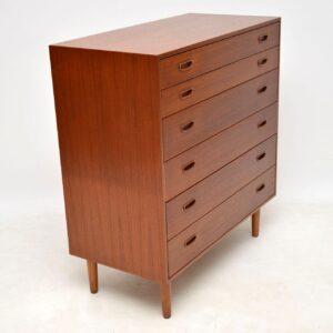 danish retro vintage teak chest of drawers