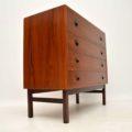 1960's Danish Teak & Rosewood Bureau / Chest of Drawers