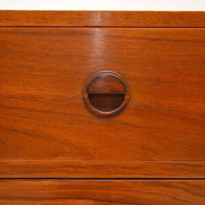 danish rosewod teak vintage retro bureau chest of drawers