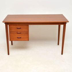 danish teak retro vintage desk by arne vodder