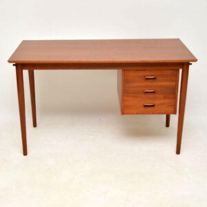 danish teak retro vintage desk by arne vodder