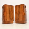 1920's Pair of Art Deco Walnut Bedside Cabinets