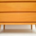 1950's Pair of Vintage Satin Wood Chest of Drawers