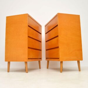 pair of retro vintage chests chest of drawers