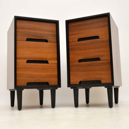 1950's Pair of Walnut Bedside Chests by John & Sylvia Reid for Stag