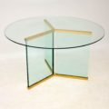 1970's Vintage Glass Dining Table by Leon Rosen for Pace Collection